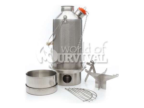 Image for Kelly Kettle Base Camp Kit Stainless (1.5 ltr, 2.6 UK pints)