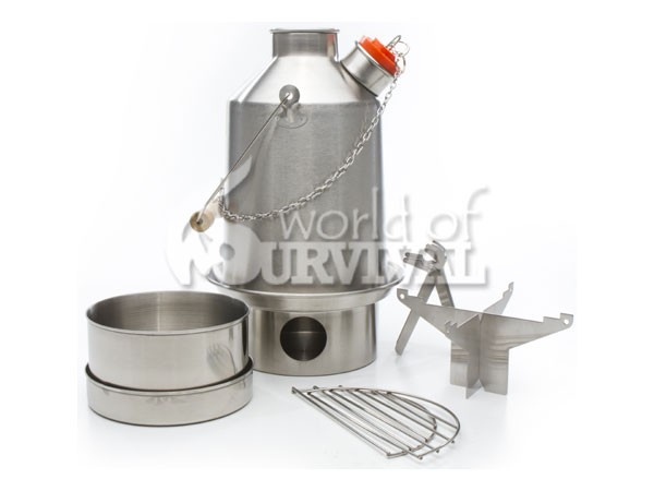 Image for Kelly Kettle Scout Kit Stainless Steel (1.1 ltr, 1.9 UK pints)